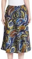 Lafayette 148 New York Printed Wool Blend Skirt