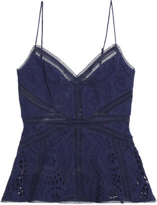 Zimmermann Paradiso Broderie Anglaise Cotton Peplum Camisole