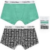 Calvin Klein Calvin KleinBoys Green & Black Logo Boxer Shorts Set (2 Pack)