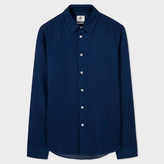 Paul Smith Men's Slim-Fit Indigo And White Pin-Dot Shirt