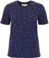 MICHAEL Michael Kors Heart Stud Ribbed Neck T-Shirt