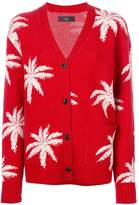 Amiri palm tree-intarsia cardigan
