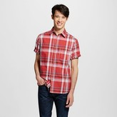 Men's Short Sleeve Shirt Red Plaid - Mossimo Supply Co.
