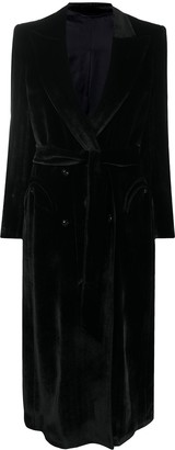 BLAZÉ MILANO Double-Breasted Velvet Coat