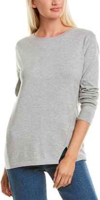 InCashmere Colorblock Cashmere-Blend Sweater