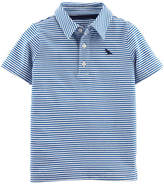 CARTERS Carter's Boys Spread Collar Short Sleeve Polo Shirt - Baby