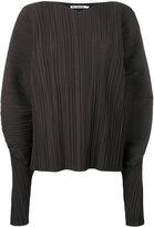 Jil Sander puffed longsleeves pleated blouse - women - Cotton/Polyester - 34