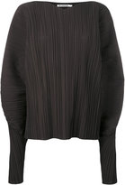 Jil Sander puffed longsleeves pleated blouse - women - Polyester/Cotton - 36