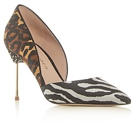 Kurt Geiger Women's Bond Leopard Print Calf Hair Pointed-Toe Pumps