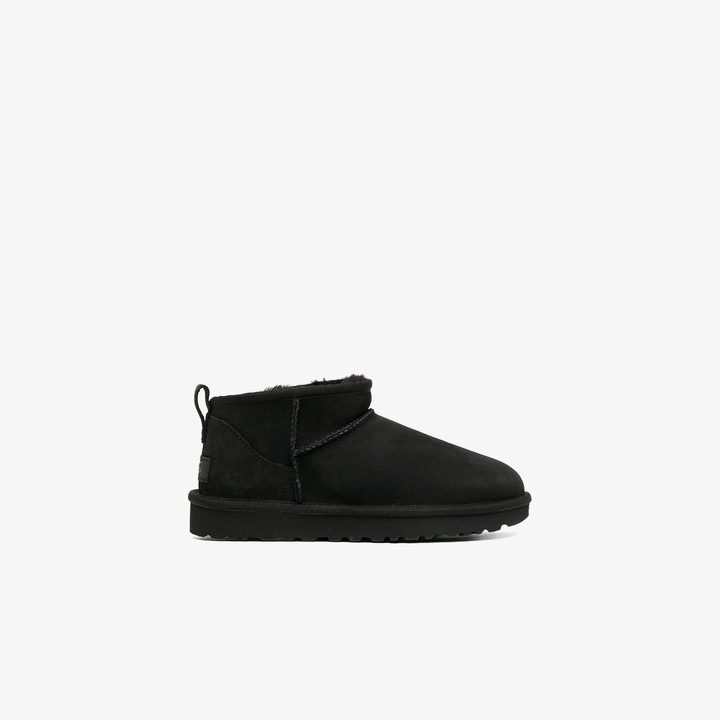 UGG black Classic Ultra Mini ankle boots