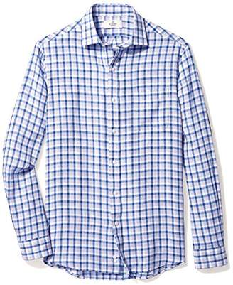 Buttoned Down Men's Classic Fit Spread-Collar Dress Casual Shirt