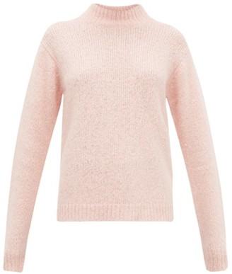Tibi Cozette Mock-neck Alpaca-blend Sweater - Womens - Light Pink