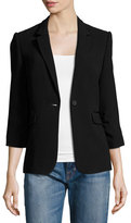 Elizabeth and James James Fitted Crepe Blazer, Black
