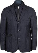Corneliani Navy Quilted Shell Jacket