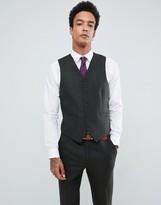 Gianni Feraud Slim Fit Green Donnegal Wool Blend Suit vest