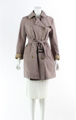 Burberry Silver Suede Trench coats