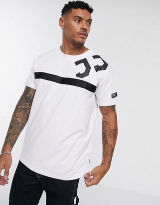 Jack and Jones Core oversized logo t-shirt in white