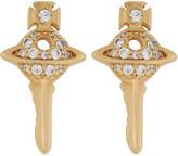 Vivienne Westwood Darianne key orb stud earrings
