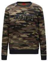 HUGO BOSS Camouflage Cotton Sweatershirt Driggs MGreen