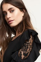 Dynamite Top With Lace & Ruffle Detail
