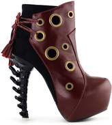 Show Story Punk Ring High-top Bone High Heel Platform Ankle Boots,LF80618RD40,9US