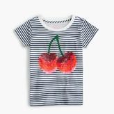 J.Crew Girls' sequin cherry T-shirt