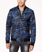 INC International Concepts Men's Abstract-Print Bomber Jacket, Created for Macy's
