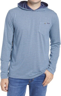 johnnie-O Grimes Stripe Hooded Pullover