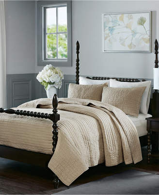 Madison Home USA Signature Serene Full/Queen 3 Piece Cotton Quilt Coverlet Set Bedding