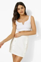 Thumbnail for your product : boohoo Tailored Button Detail Mini