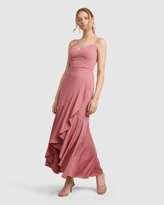 Forever New Hazel Wrap Frill Midi Dress