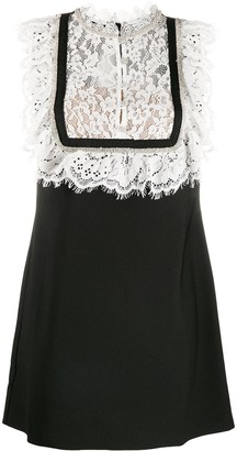 Self-Portrait Lace Embroidered Mini Dress