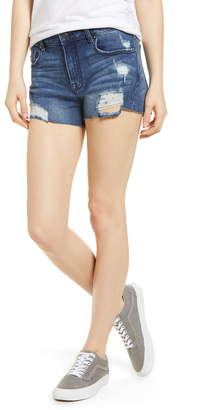 Vigoss Marley High Waist Distressed Denim Shorts