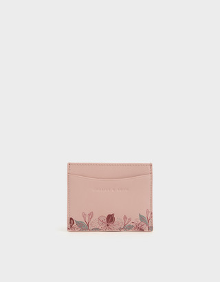 Charles & Keith Floral Print Card Holder