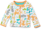 Boppy Orange Animal Reversible Zip-Up Cardigan - Infant