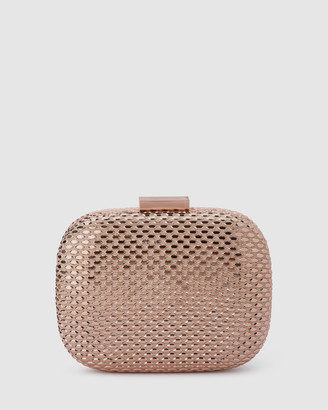 Olga Berg Women's Gold Clutches - Elliana Textured Hotfix Clutch - Size One Size at The Iconic