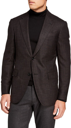 Ermenegildo Zegna Men's Wool/Silk Hopsack Regular-Fit Blazer