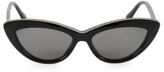 Stella McCartney 52MM Chain-Embellished Cateye Sunglasses