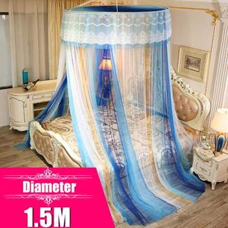 Kadell [1.5M Diameter] Fashion Princess Round Lace Bed Canopy Netting Curtain Wedding Dome Mosquito Net Bed Cover for Bedroom