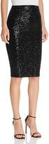 Aqua Sequined Pencil Skirt