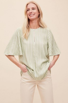 Selected Violet Striped Top