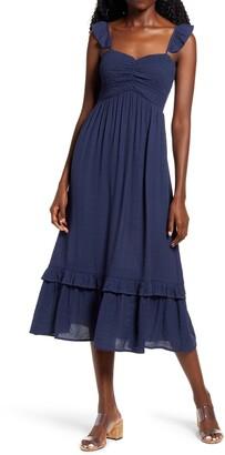 One Clothing Smocked Bodice Midi Sundress