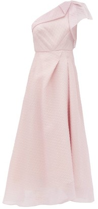 Roland Mouret Ostuni One-shoulder Silk-blend Organza Dress - Light Pink