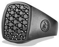 David Yurman Pave Pinky Ring With Black Diamonds And Black Titanium