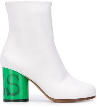 Maison Margiela Tabi contrasting heel boots