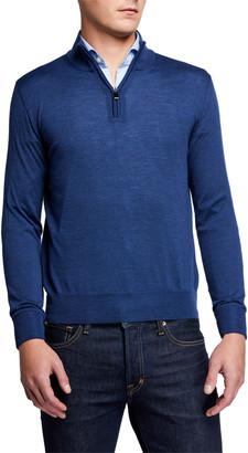 Canali Men's Mock Quarter-Zip Sweater