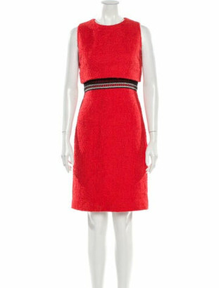 Oscar de la Renta 2017 Knee-Length Dress Orange