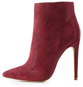 Charlotte Russe Shimmer Faux Suede Dress Booties