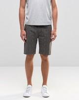 Asos Slim Mid Length Aztec Shorts In Brown