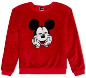 Disney Plush Mickey Mouse Graphic Sweatshirt